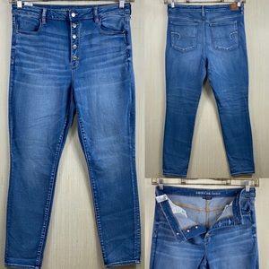 American Eagle super hi rise jegging jeans18x28